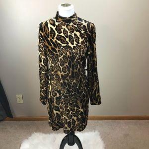 WAYF Leopard Print Dress